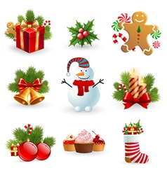 Christmas object element vector