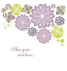 Floral retro banner vector