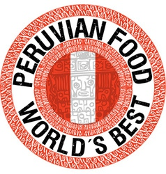Peruvian food vector