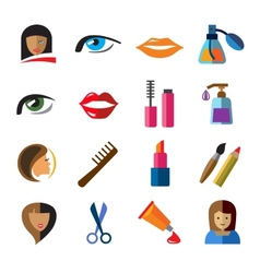 Beauty icons vector