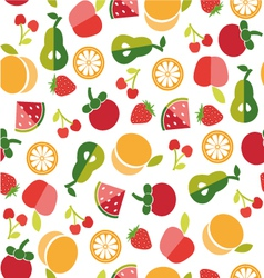 Fruit background in flat style vector