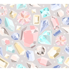 Seamless pastel diamonds pattern vector