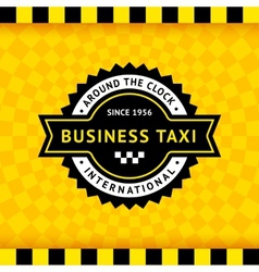Taxi symbol with checkered background - 10 vector