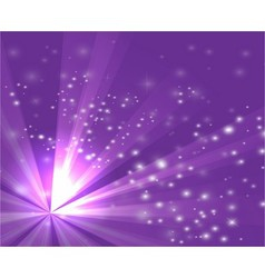 A purple color design with a burst and rays vector