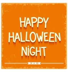 Happy halloween night poster vector