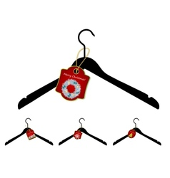 Set of hangers with christmas sale tag vector