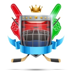 Label for ice hockey sport competition bright vector