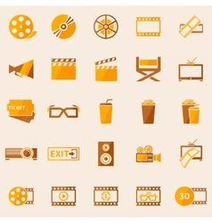 Cinema or movie icons set vector
