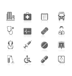 Black icons - medical vector