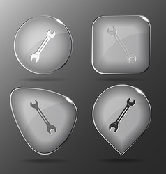 Spanner glass buttons vector