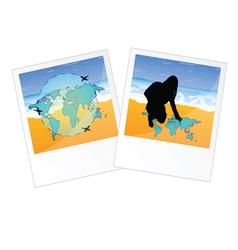 Travel two picture vector