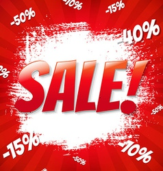 Red sale blot vector