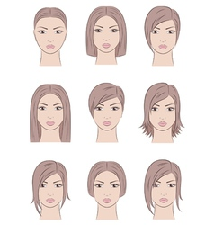 Women faces vector