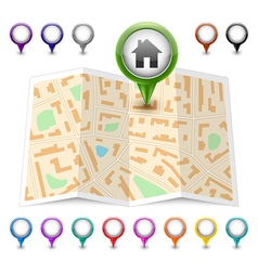 Map icon map markers vector