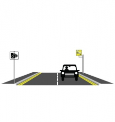 Road speed camera vector