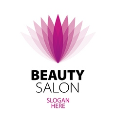 Abstract logo beauty salon vector