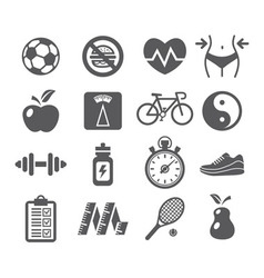 Health and fitness icons vector
