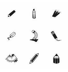 Pencil icon set vector
