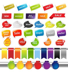 Set of sale stickers and labels vector