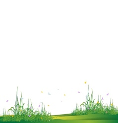 Beauty grass silhouette vector