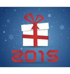 Gift box 2015 vector