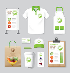 Health beauty shop set flyer menu package t-shirt vector