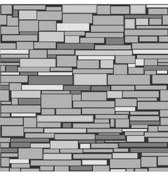 Decorative stone wall vector