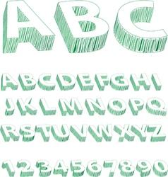Scribble font vector