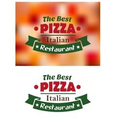 Italian pizza restaurant banner vector