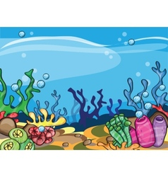 A of marine underwater scene vector