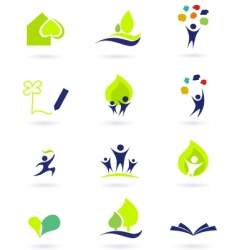 School and nature icons vector