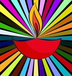 Attractive background of diwali diya vector