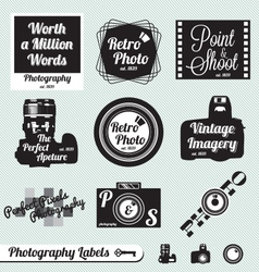 Photography labels vector