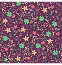 Seamless floral pattern can be used for invitation vector