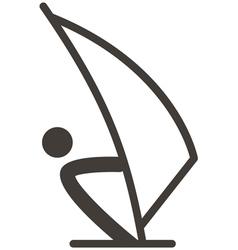 Sailing icon vector