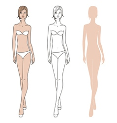 Women fashion figure vector
