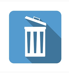 Bin flat icon2 open vector
