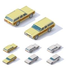Isometric cars vector