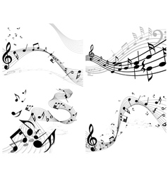 Musical sheet set vector