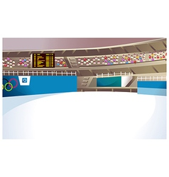Olympics ice stadium vector