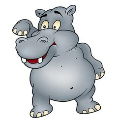 Hippo waving goodbye vector