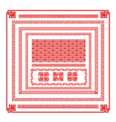 Chinese style border decoration element for design vector