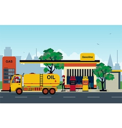 Petrol station vector