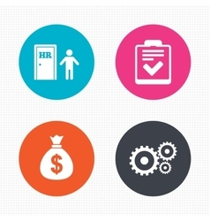 Human resources and business checklist document vector