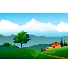 Himalayas landscape vector