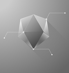 Polygon info graphic vector
