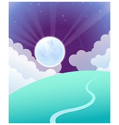 Curved path sunrise vector