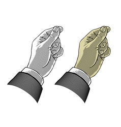 Hand giving or take something vector