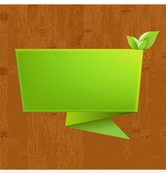 Wood background with origami vector