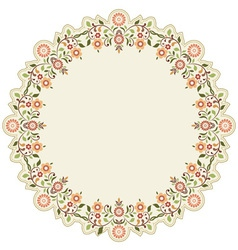 Circular islamic background six vector